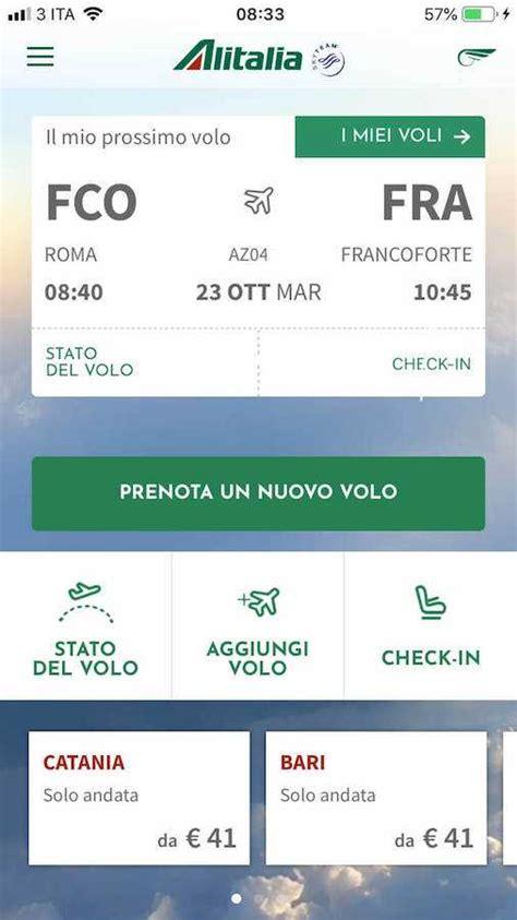 check in alitalia mobile check in alitalia guida completa e dettagliata