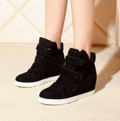 Black Casual Trandy Wedges black fashion lace up wedge heels ankle