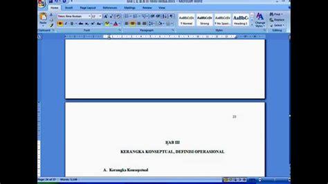 cara membuat halaman di ms word secara otomatis daftar isi otomatis dan penomoran halaman ms word 2007