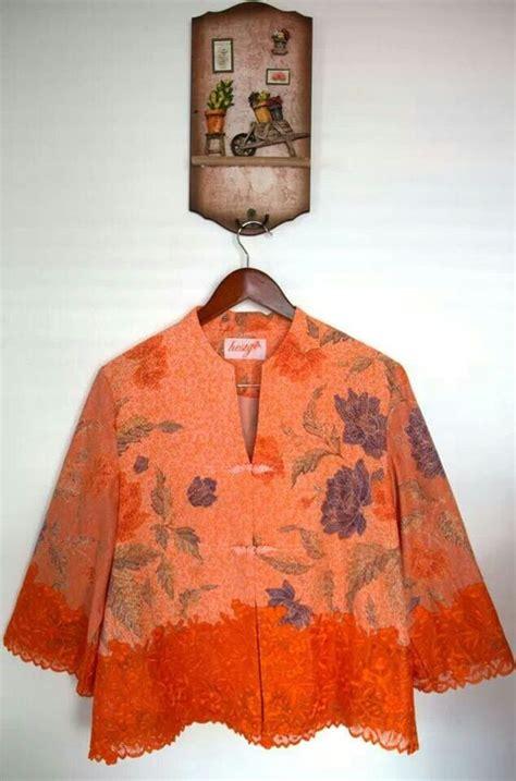 Blouse Blouse Asimetris Tunik Batik Blouse Batik blouse batik kombinasi brokat klambi batik kebaya brokat and blouses