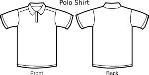 Baju Kaos Polos Med Blue polo shirt template clip at clker vector clip
