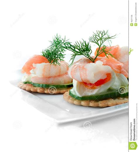 m and s canapes seafood salad canapes stock image image of crayfish