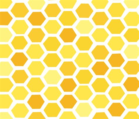 Background Pattern Hive | beehive yellow hues by friztin friztin spoonflower
