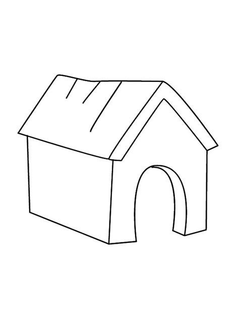 dog house outline niche 224 chien 28 b 226 timents et architecture coloriages
