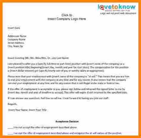 6 template for offer letter for employment ledger paper