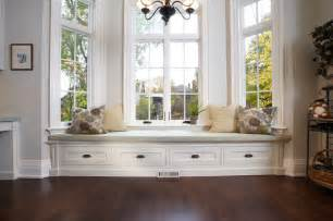 Built In Window Bench Traditional Living Room