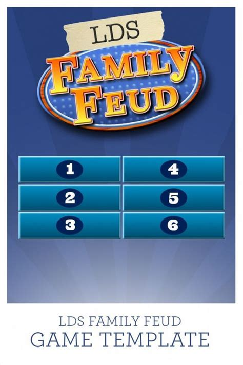 49 Best Images About Young Men And Young Women Activities Family Feud Template For Teachers