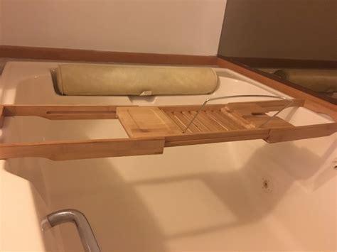 bathtub caddy with book holder bamboo bathtub spa caddy book tablet holder extendable