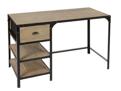 escritorio hierro y madera escritorio industrial vintage de hierro y madera de abeto