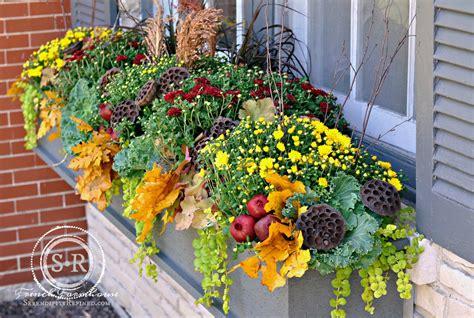 Fall Planter Box Ideas by Serendipity Refined Fall Window Box Planter