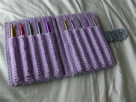 pattern crochet needle case one square at a time free pattern crochet hook case