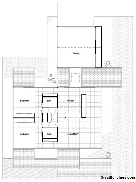 Case Study House Plans Great Buildings Drawing Bailey House Case Study House