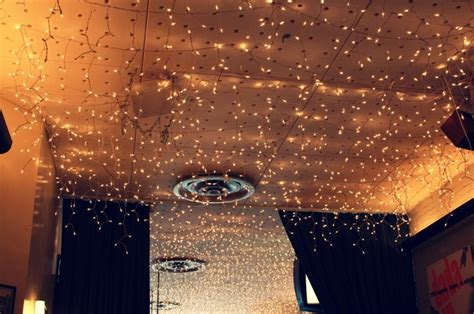 christmas lights on ceiling bedroom inspiration