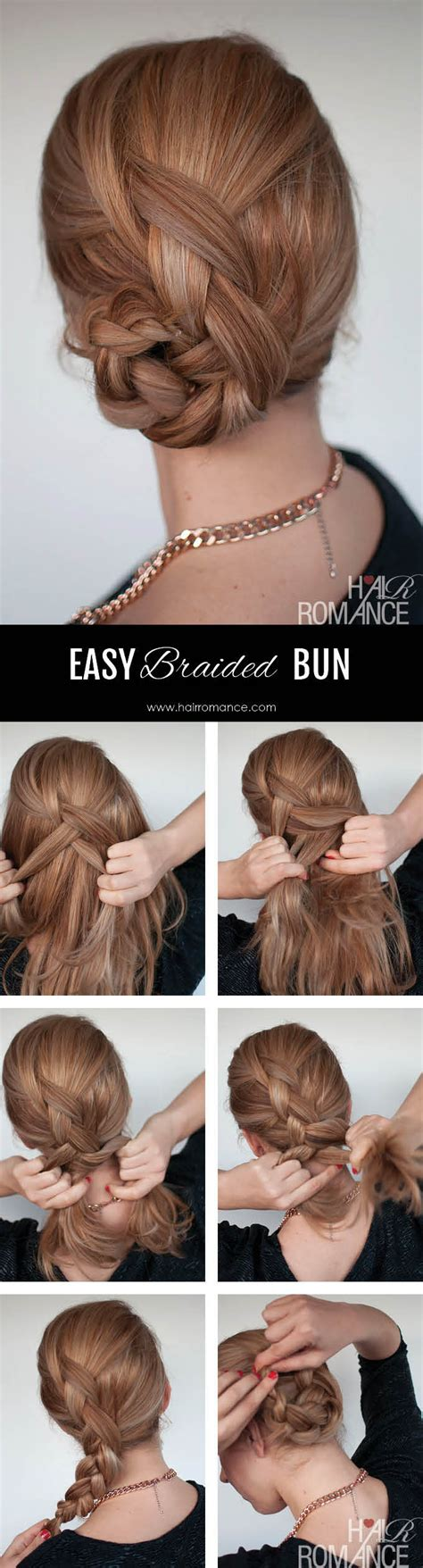 easy braided ponytail hairstyle how to hair romance easy braided bun hairstyle tutorial hair romance