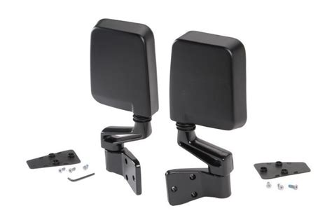Jeep Wrangler Side Mirrors Doors by Smittybilt 7694 Side Mirrors In Black For 87 06 Jeep