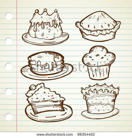 cake doodle free pies and cake clip free vector 4vector