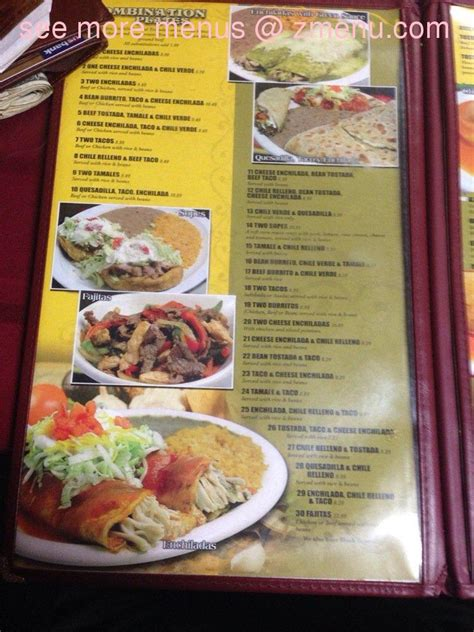 menu  la costa mexican restaurant restaurant fortuna california  zmenu