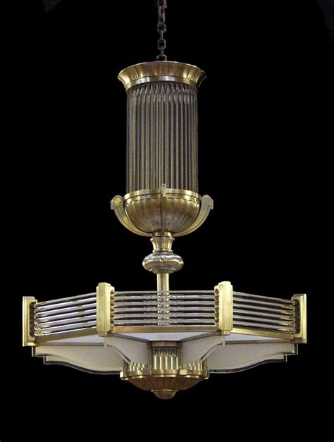 Art Deco Chandelier In A Style Similar To That Of Atelier Deco Chandelier