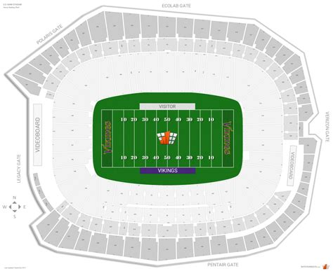 seat bank us bank stadium seating chart with rows and seat numbers