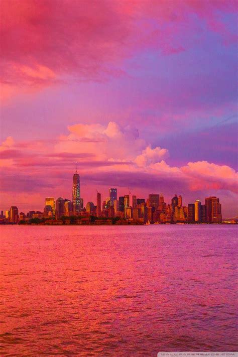 Garskin Laptop Notebook 14 Inch Sunset new york city pink sunset 4k hd desktop wallpaper for 4k