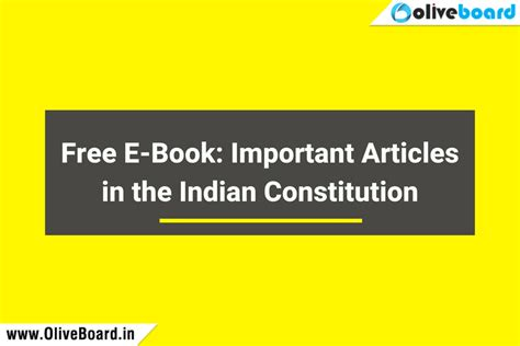 Importance Of Mba In India by Free Ebook Important Articles In The Indian Constitution