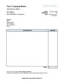 microsoft invoice template free free excel invoice templates