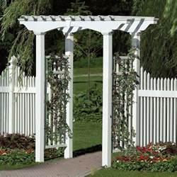 Arch Shaped Trellis New Arbors Decorative Newport White Vinyl Garden