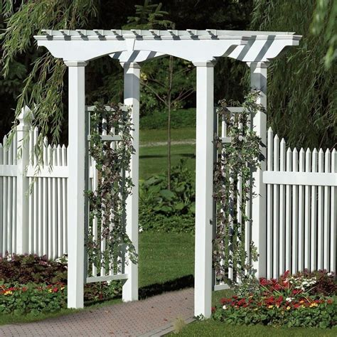 Trellis For Patio by New Arbors Decorative Newport White Vinyl Garden