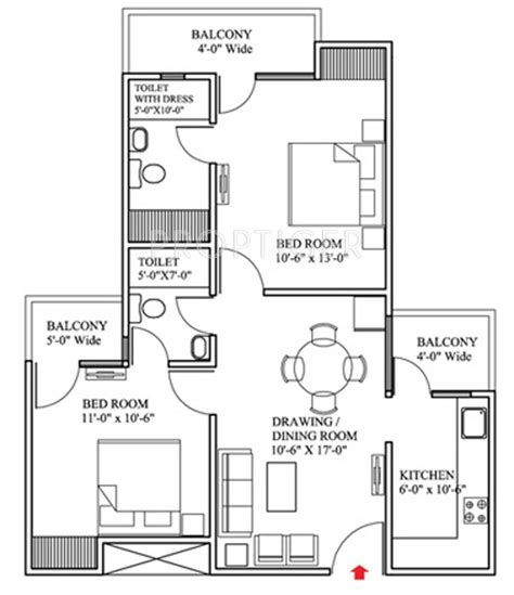 1000 sq ft 2bhk house plans raison olive homes in sector 22 bhiwadi bhiwadi price