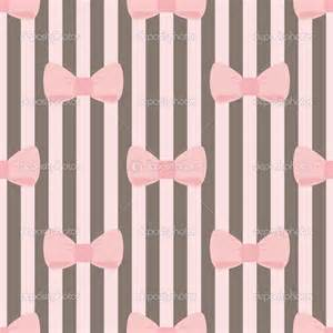 Seamless vector pattern with pastel pink bows on a chocolate tile
