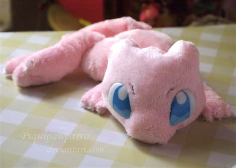 Handmade Plush - mew handmade plush by piquipauparro on deviantart