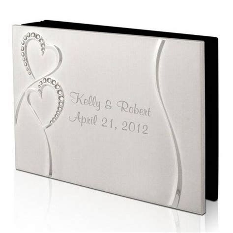 personalized wedding photo album personalized wedding silver 4x6 photo album