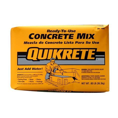 Quikrete 80 lb. Concrete Mix 110180   The Home Depot