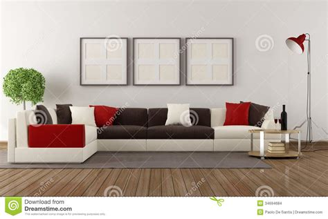Living Room Background Stock Images Moderne Woonkamer Stock Illustratie Afbeelding Bestaande