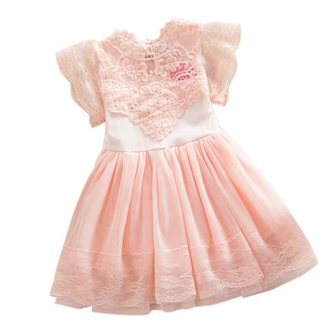 lovely baby lace tutu dress summer hollw out dresses formal wedding clothes in