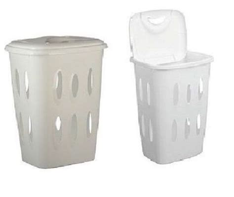 Plastic Laundry Basket With Lid Washing Hamper 45 L Liter Plastic Laundry With Lid