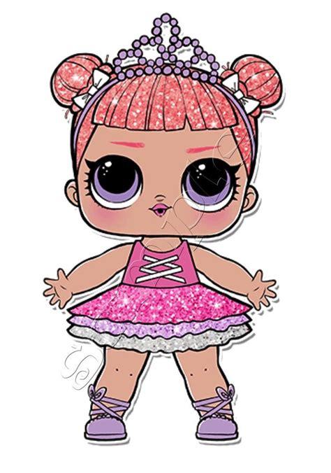 Lol Glitter Series iron on transfer lol doll dolls center stage