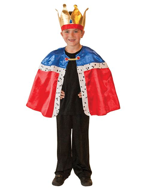 Dress Crown Kid boy s royal king cape crown costume all children