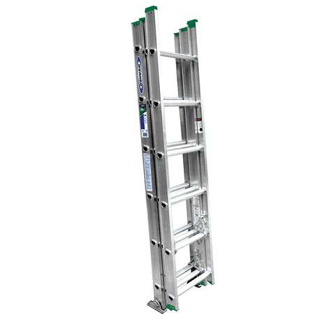 werner 16 aluminum 3 section compact extension
