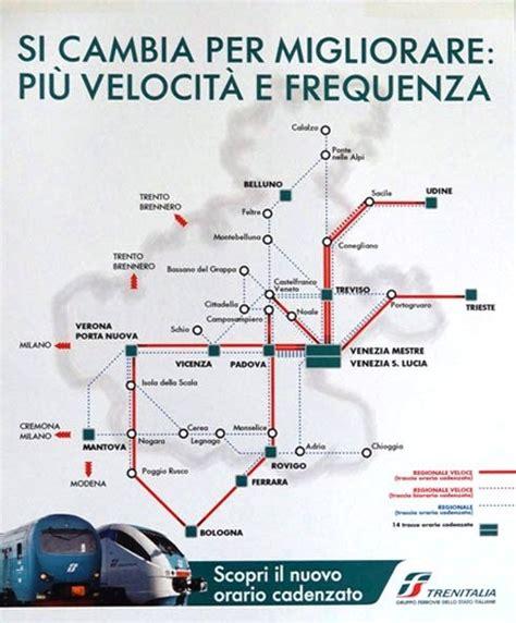 veneto orari orario ferroviario 2014 le novit 224 per i servizi regionali