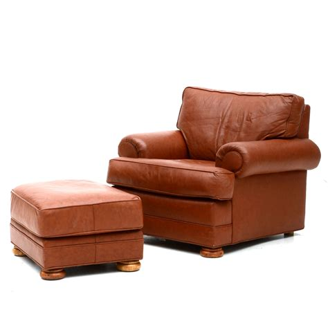 wingback chair with ottoman furniture alluring leather chair and ottoman for cozy
