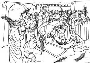 coloring pages jesus enters jerusalem 為孩子們的著色頁 entry of jesus into jerusalem coloring pages