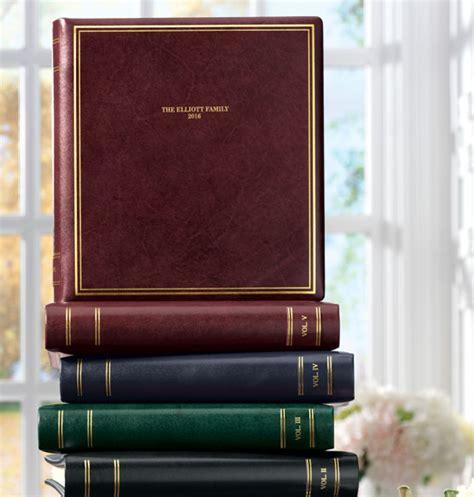 Personalised Handmade Photo Albums - presidential personalized leather photo album photo