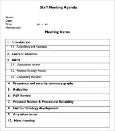 Staff Meeting Template by Sle Staff Meeting Agenda Template Apps Directories