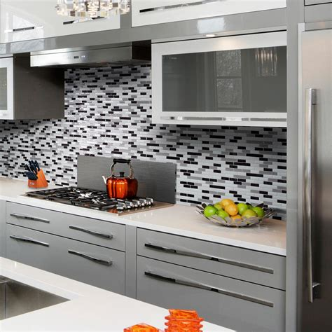 smart tiles kitchen backsplash smart tiles muretto alaska 10 20 in w x 9 10 in h peel and stick self adhesive decorative