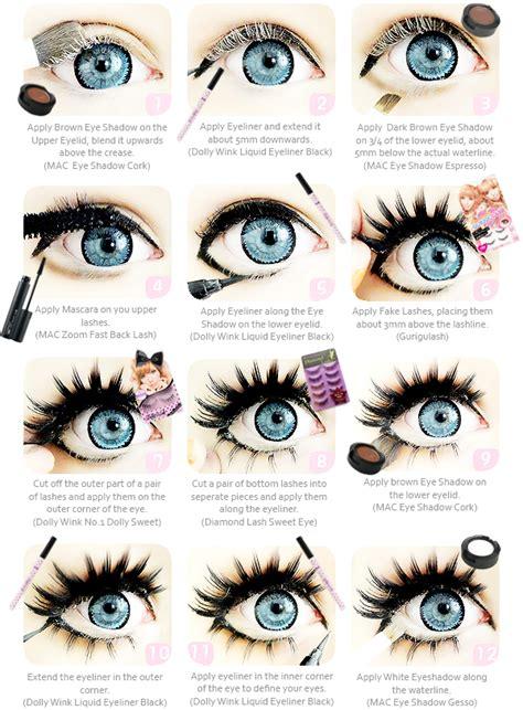 tutorial makeup doll eyes kawaiix2 gyaru eye make up tutorial