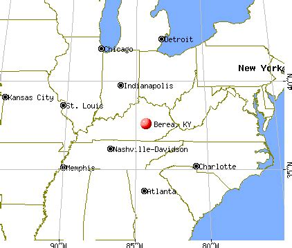 kentucky map berea berea kentucky ky profile population maps real