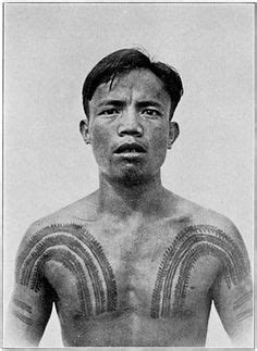 bontoc igorot man ca 1900 the tattoos on his chest arms