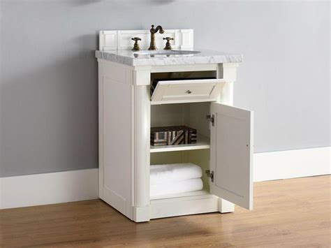 Abstron 26 Inch White Finish Single Sink Bathroom Vanity 26 Inch Bathroom Vanities