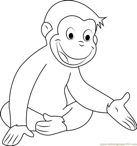 curious george coloring page pdf happy curious george coloring page free curious george